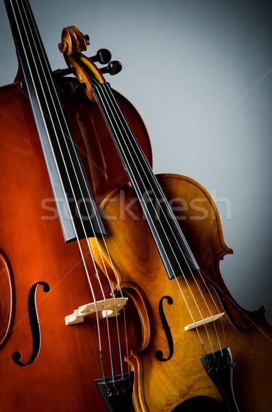 Violino buio stanza musica retro colore Foto d'archivio © Elnur