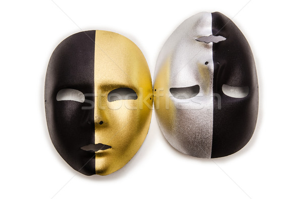 Shiny masks isolated on white background Stock photo © Elnur