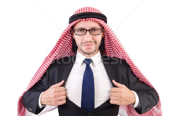 Arab businessman in eyeglasses  isolated on white Stock photo © Elnur