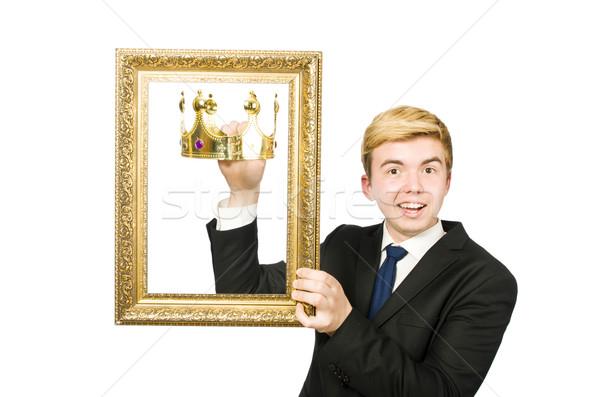 Homem quadro de imagem isolado homem branco branco trabalhar Foto stock © Elnur