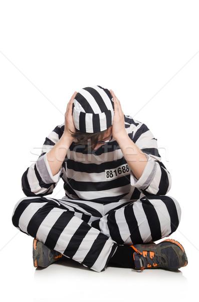 Komik hapis tutuklu hukuk polis adalet Stok fotoğraf © Elnur