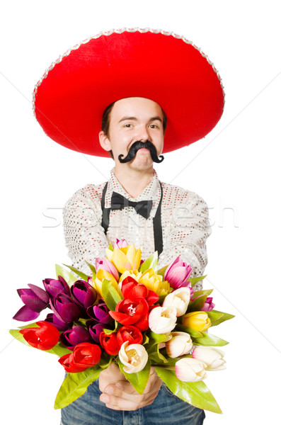 Stock photo: Funny mexican with sombrero hat