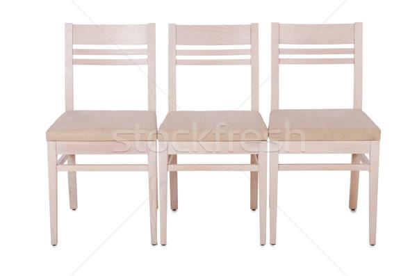 Sandalye yalıtılmış beyaz ofis yaz Stok fotoğraf © Elnur