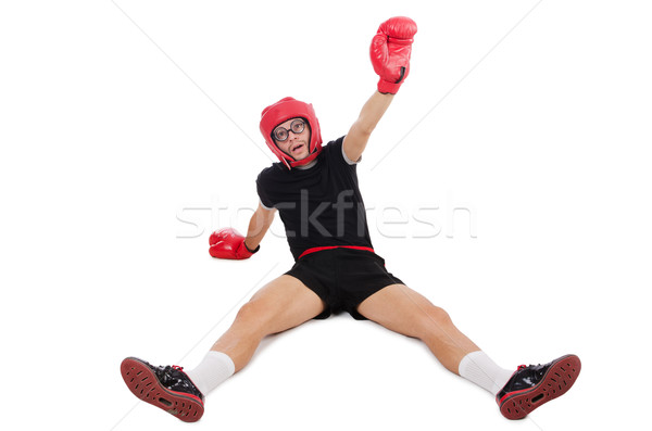 Funny boxer isolated on the white Stock photo © Elnur