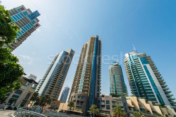 Alto Dubai marina arranha-céus negócio céu Foto stock © Elnur