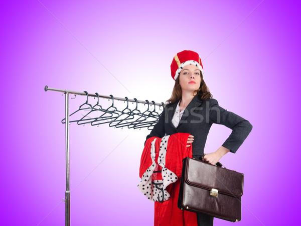 Kadın kraliçe komik çalışmak işadamı yürütme Stok fotoğraf © Elnur