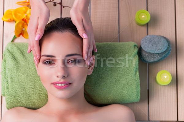 Young woman during massage session Stock photo © Elnur