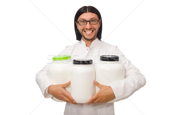 Divertente medico proteine isolato bianco medici Foto d'archivio © Elnur