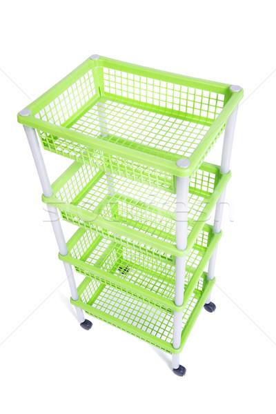 Zielone rack półka koła odizolowany Zdjęcia stock © Elnur
