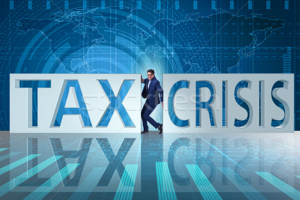 Businessman in tax and crisis concept Stock photo © Elnur