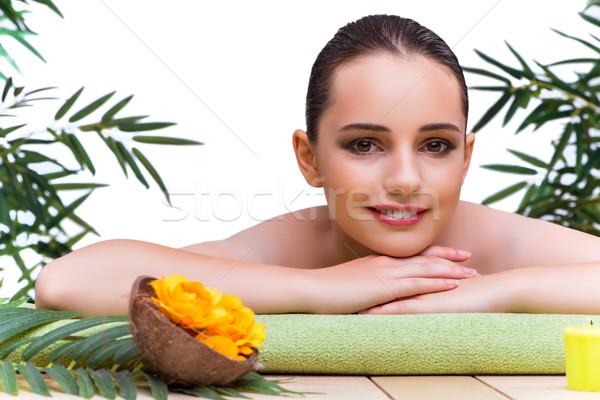 若い女性 温泉療法 花 少女 健康 ストックフォト © Elnur