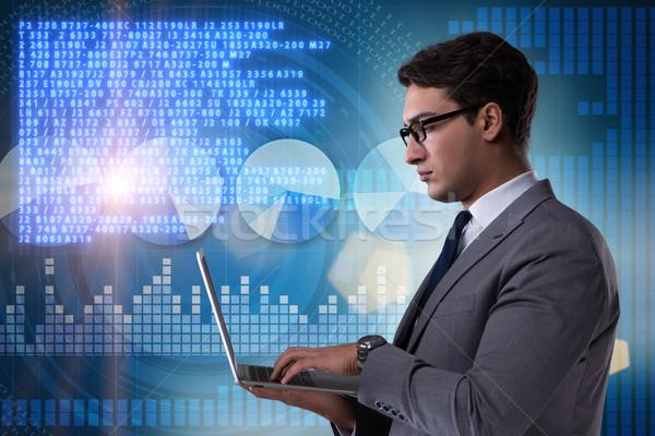 Businessman in stock exchange trading concept Stock photo © Elnur