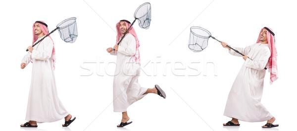 Emiraty człowiek netto odizolowany biały wiosną Zdjęcia stock © Elnur