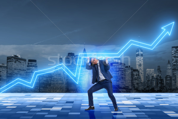 Biznesmen wzrost gospodarki działalności człowiek finansów Zdjęcia stock © Elnur