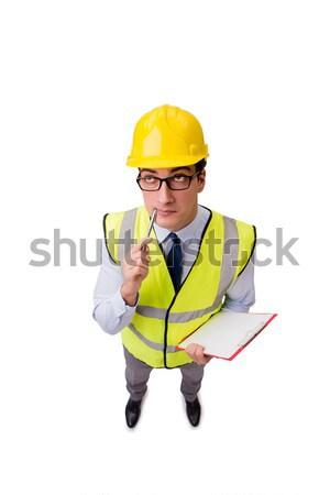 építkezés felügyelő izolált fehér épület üzletember Stock fotó © Elnur