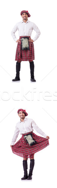 The concept with funny scotsman isolated on white Stock photo © Elnur