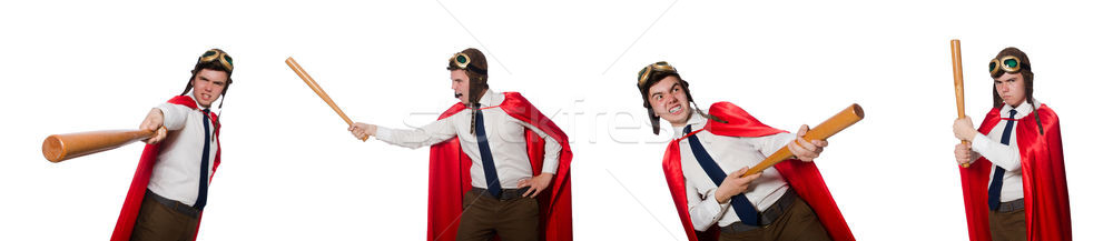 Funny hero isolated on the white Stock photo © Elnur