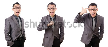 Young smiling man isolated on white Stock photo © Elnur