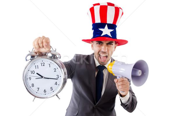 Man luidspreker klok business werk zakenman Stockfoto © Elnur