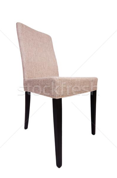 Yemek odası sandalye yalıtılmış beyaz ofis mobilya Stok fotoğraf © Elnur