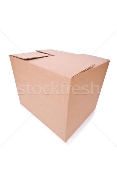 Carton boxes isolated on the white background Stock photo © Elnur