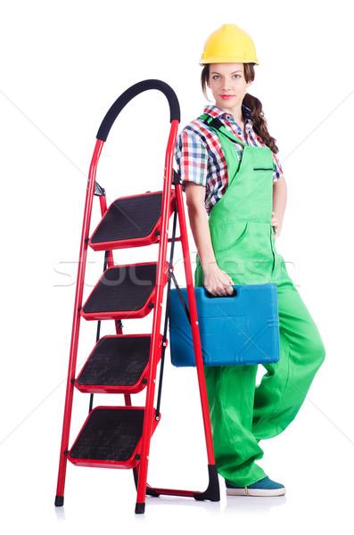 женщину ремонта работник лестнице работу промышленных Сток-фото © Elnur