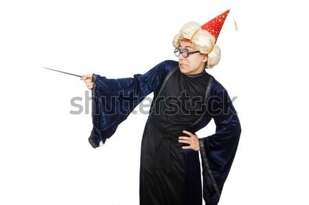 Man in devil costume in halloween concept Stock photo © Elnur