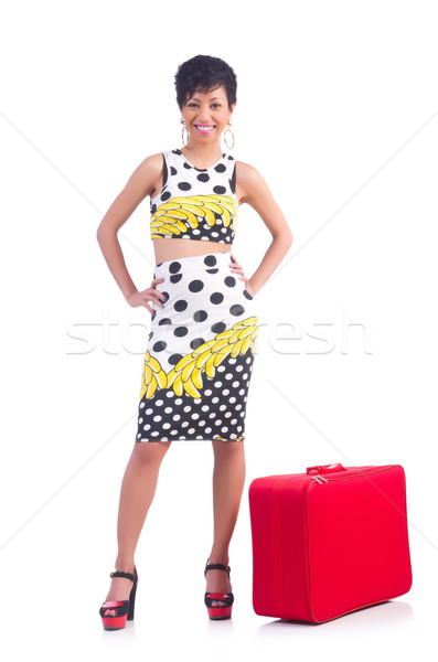 отпуск девушки счастливым фон путешествия Сток-фото © Elnur