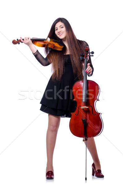 小さな パフォーマー バイオリン 白 女性 コンサート ストックフォト © Elnur