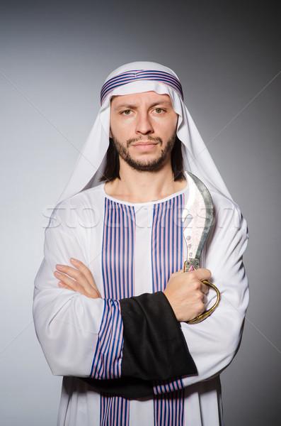 アラブ 男 シャープ ナイフ ビジネス 笑顔 ストックフォト © Elnur