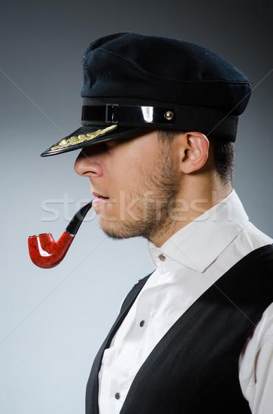 курение трубы табак лице морем модель Сток-фото © Elnur