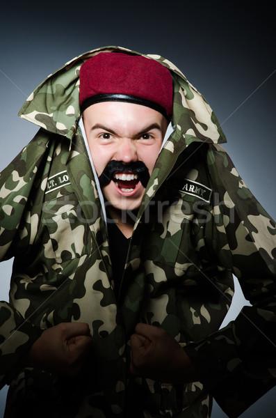 Divertente soldato militari uomo sfondo sicurezza Foto d'archivio © Elnur