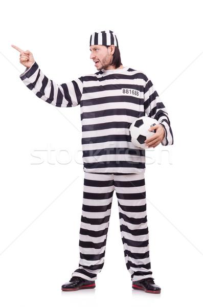 Prisión preso aislado blanco fútbol fútbol Foto stock © Elnur