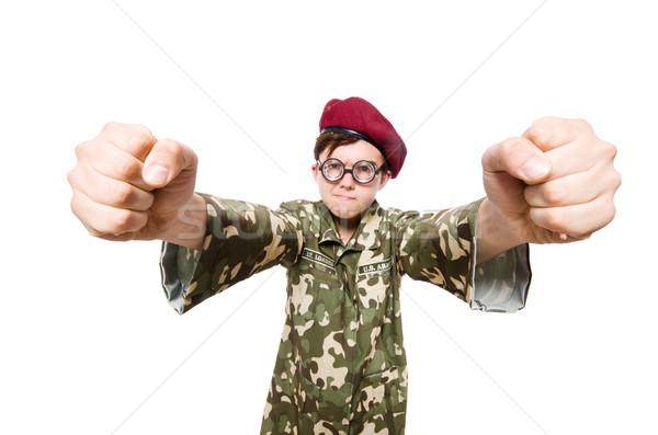 Divertente soldato militari uomo sfondo guerra Foto d'archivio © Elnur