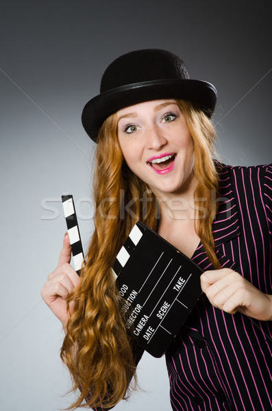 Young woman in movie concept Stock photo © Elnur