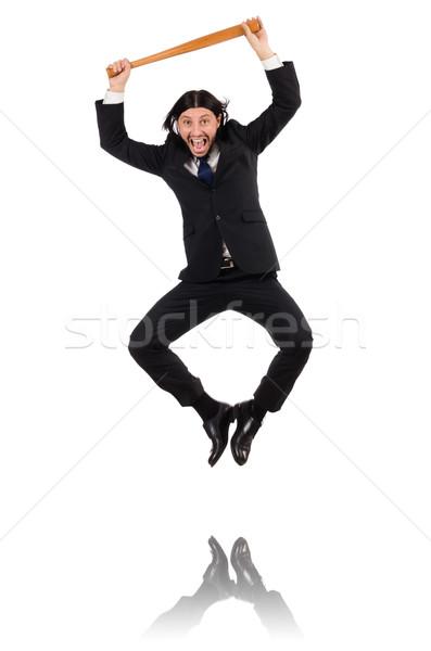 Jóvenes elegante hombre bate aislado Foto stock © Elnur
