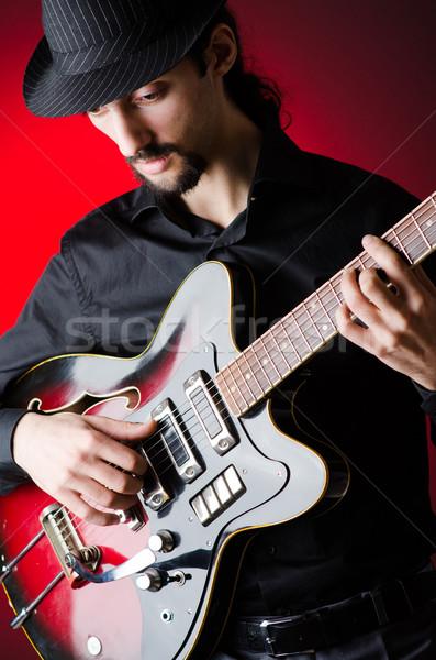 男 ギター コンサート 音楽 パーティ 背景 ストックフォト © Elnur