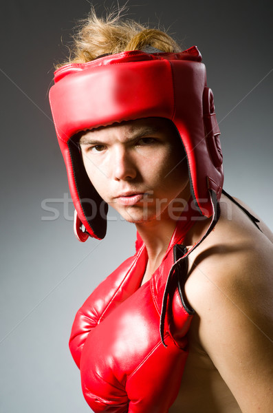 Funny nerd boxer in sport concept Stock photo © Elnur