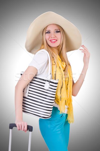 Jovem mulher atraente pronto férias de verão negócio menina Foto stock © Elnur