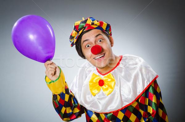 Divertente clown comico felice divertimento palla Foto d'archivio © Elnur