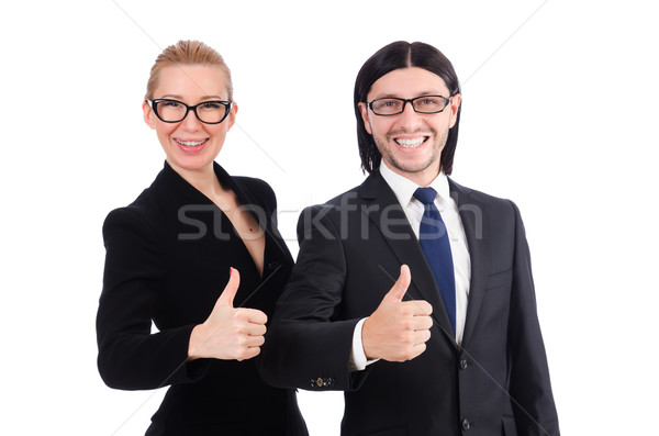 Businessman and businesswoman isolated on white Stock photo © Elnur