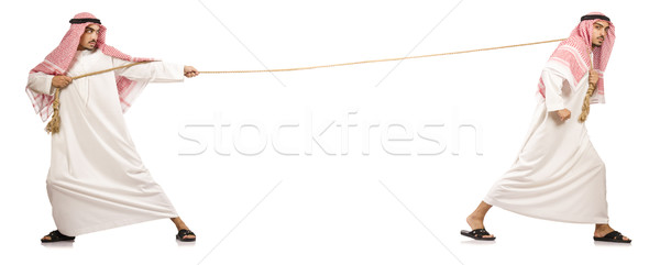 Tug of war concept isolated on white Stock photo © Elnur