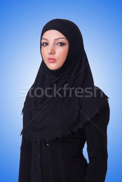 Müslüman genç kadın başörtüsü beyaz kadın Stok fotoğraf © Elnur