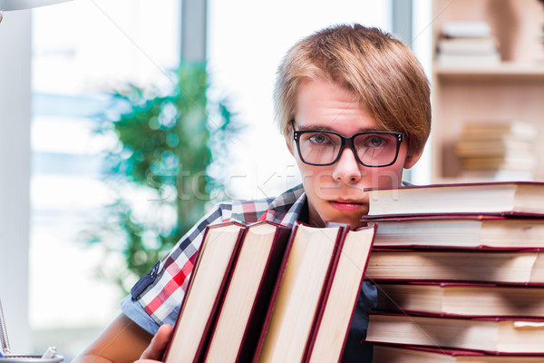 The young man student preparing for college exams Stock photo © Elnur