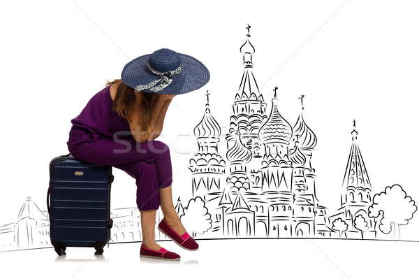 Jeune fille tourisme Russie fille heureux mode Photo stock © Elnur