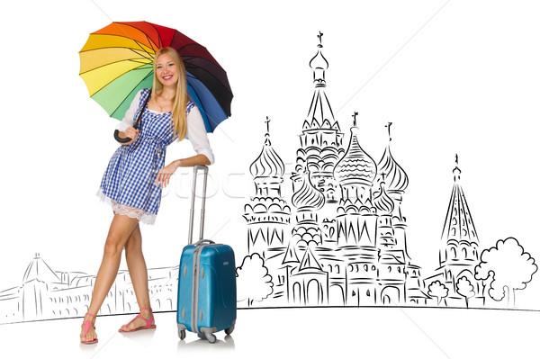 Giovane ragazza turismo Russia ragazza felice moda Foto d'archivio © Elnur