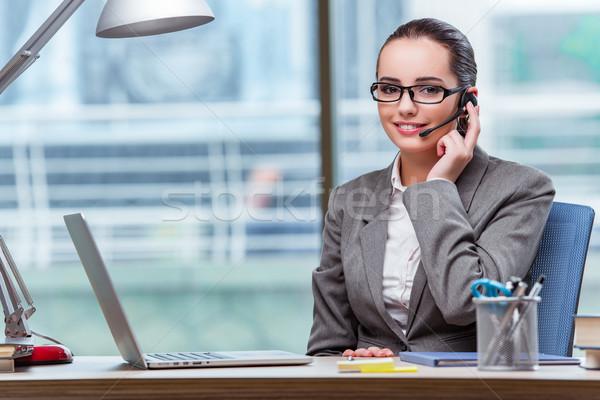 Call center exploitant business computer telefoon technologie Stockfoto © Elnur