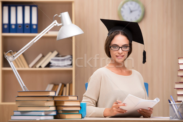 The young student preparing for university exams Stock photo © Elnur