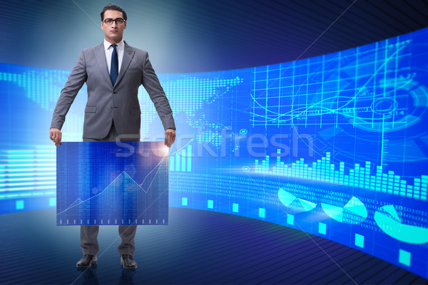 The businessman in stock exchange trading concept Stock photo © Elnur