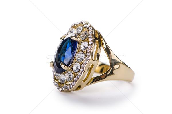 Golden ring isolated on white background Stock photo © Elnur